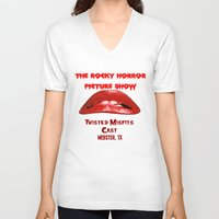rocky horror V-neck T-shirts featuring Rocky Horror Picture Show Cast TShirts by JackieJackal