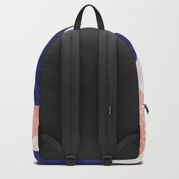Terrazzo galaxy pink blue white Backpack