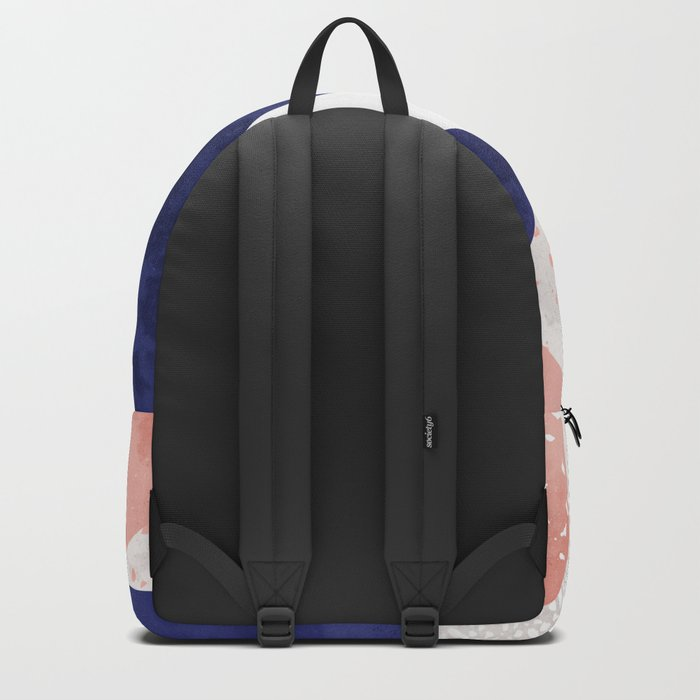Terrazzo galaxy pink blue white Backpack