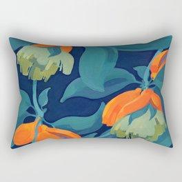 Tropical orange fruit tree Rectangular Pillow