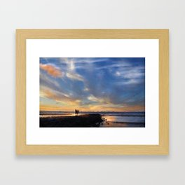 Evening by the sea Framed Art Print