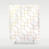 depeche mode Shower Curtains featuring Mode Trois by blacknote