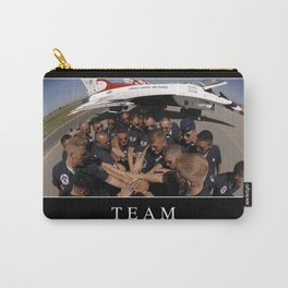 Team: Inspirational Quote and Motivational Poster Carry-All Pouch
