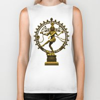 shiva Biker Tanks featuring Shiva Nataraja by Alice9