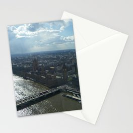 London from the sky Stationery Cards