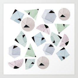 Geometricals lines Art Print