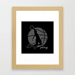 Basketball Player (monochrome) Framed Art Print
