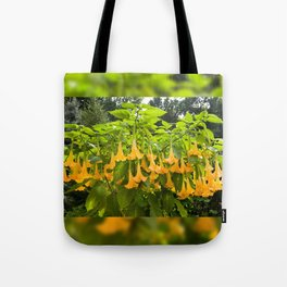 Yellow Brugmansia or Angels Trumpets Tote Bag