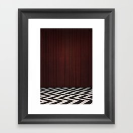 Black Lodge / Red Room Twin Peaks Framed Art Print