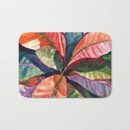 Colorful Tropical Leaves 1 Bath Mat