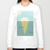 iceland Long Sleeve T-shirts featuring Vanilla Iceland by Stef Rymenants