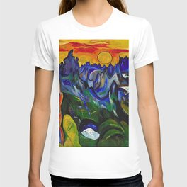 African American Masterpiece 'Midnight Sun, Norway' by William Henry Johnson T-shirt