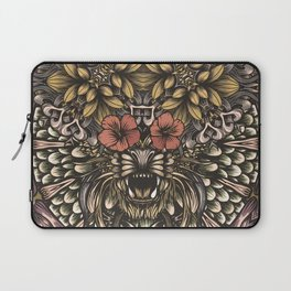 Tiger and flowers Laptop Sleeve