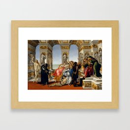 "Sandro Botticelli ""The Calumny of Apelles"" Framed Art Print"
