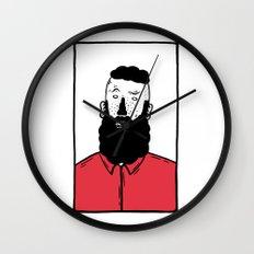 BearD Guy Wall Clock