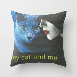 cat and me Throw Pillow