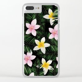 Leave Me Aloha in Black Clear iPhone Case