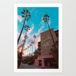 The Famous Beverly Hills Hotel Art Print