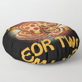 Eating Pizza For Two Floor Pillow