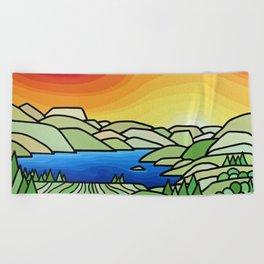 Coast Rain Beach Towel