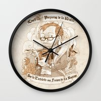 bouletcorp Wall Clocks featuring Autoportrait by Bouletcorp