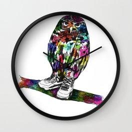 Owl in Air Jordans! Wall Clock