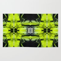 neon Area & Throw Rugs featuring Neon by Sara Pålsson