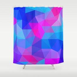 Magenta Blacklight Low Poly Shower Curtain