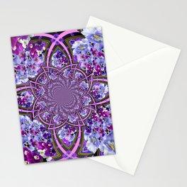 ORNATE PURPLE PANSY GALAXY ART Stationery Cards