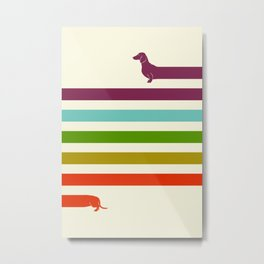 (Very) Long Dachshund Metal Print