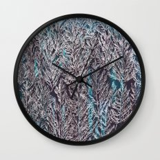 Snow Pines(Blue) Wall Clock