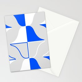 Whales In Cobalt Stationery Cards