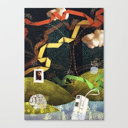 Rain Ribbons Canvas Print