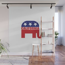 California Republican Elephant Wall Mural