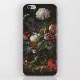 Jan Davidsz de Heem - Vase of Flowers (c.1660) iPhone Skin