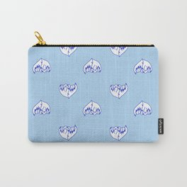 Best Friend Galentine's Day Pinky Promise Pattern in Blue Carry-All Pouch