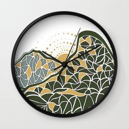 Geometric Mountain Wall Clock