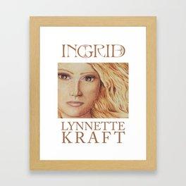 Ingrid Poster Framed Art Print