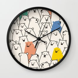 Bears party Wall Clock