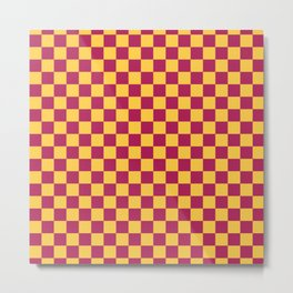 Checkered Pattern VII Metal Print