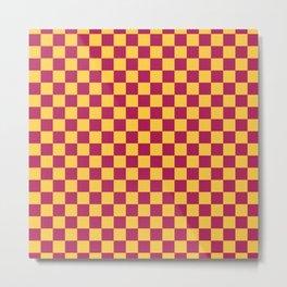 Checkered Pattern VII Metal Print