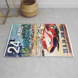 Le Mans poster, 1962, vintage poster, t-shirt, race poster Rug