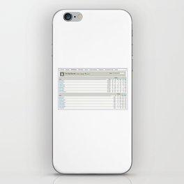 The Big Biscotti - 2010 Winning Fantasy Baseball Roster iPhone Skin
