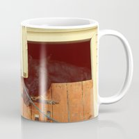 breakfast Mugs featuring Breakfast by Armine Nersisian
