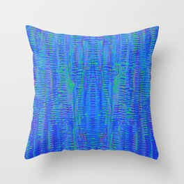 with green, 5 Throw Pillow