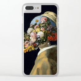 Flowers in Vermeer Clear iPhone Case