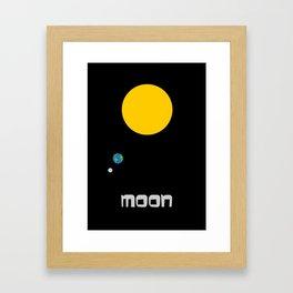 The Moon in Minimal Framed Art Print