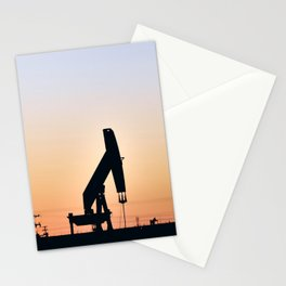 Oil Rig At Sunset 5 #texas Stationery Cards