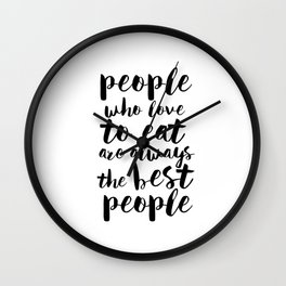 Funny Kitchen Quote Print Funny Quote Funny Wall Art Printable Wall Art Typography Print Comic Quote Wall Clock