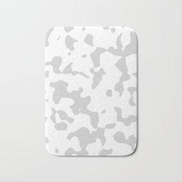 Large Spots - White and Light Gray Bath Mat